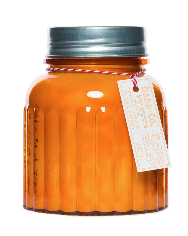 Barr-Co. Blood Orange Amber Apothecary Jar Candle