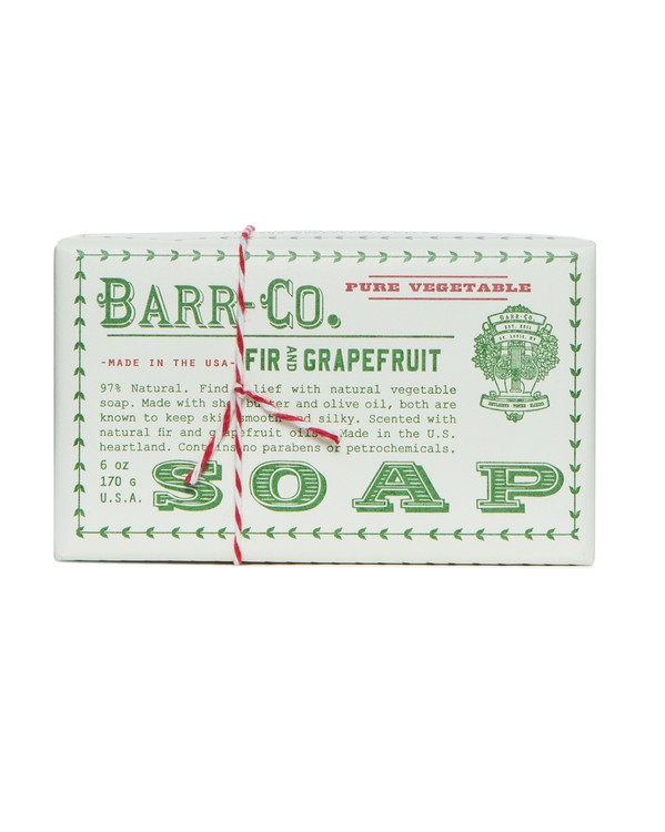 Barr-Co. Fir & Grapefruit Shea Butter & Olive Oil Bar Soap