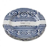 Appetizer plates – navy/white melamine plates (set of 4)