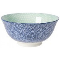 Bowl - Medium Bowl Blue Stars