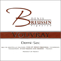 Denis Breussin Vouvray Demi-Sec