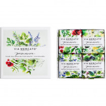 Via Mercato, Fresh Herbs Gift Soaps (set of 4)