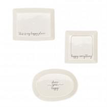 Small Dish - Happy (multiple designs)