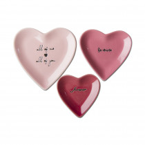 Small Pink Heart Plate (Individual)