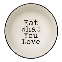 Bowl - Black & White (Eat What You Love) Serving Bowl