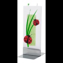 Flat Candle - Ladybugs