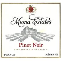 Miona Estates Reserve Pinot Noir