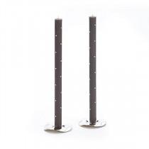 Tapers - Small Diamond, Gray (pair)