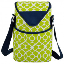 Insulated Two Bottle Tote - Green