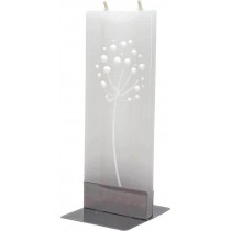 Flat Candle - Abstract White Dandelion