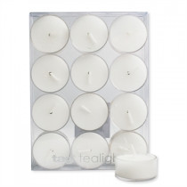 White Tea Light Candles (set of 12)