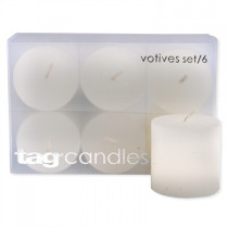 White Votive Candles (set of 6)
