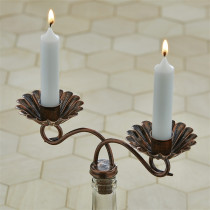 Wine Bottle - Candle Taper Holder